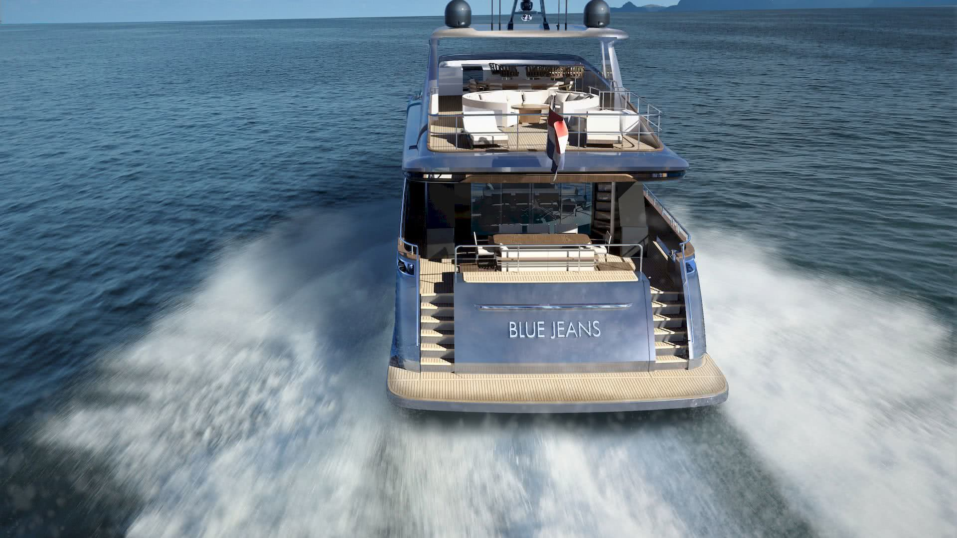 33m yacht blue jeans van der valk