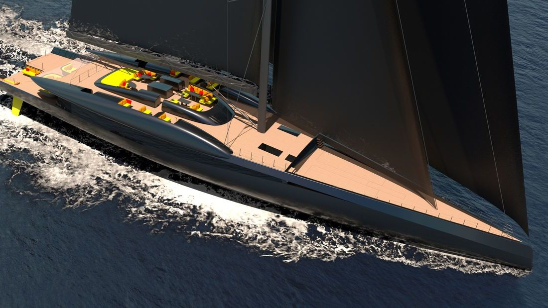 63m Sailing Yacht FURY by Van Geest Design and RDD