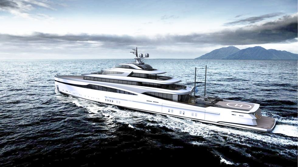 Rendeing of Motor Yacht Ark by Aristotelis Betsis Yacht Design