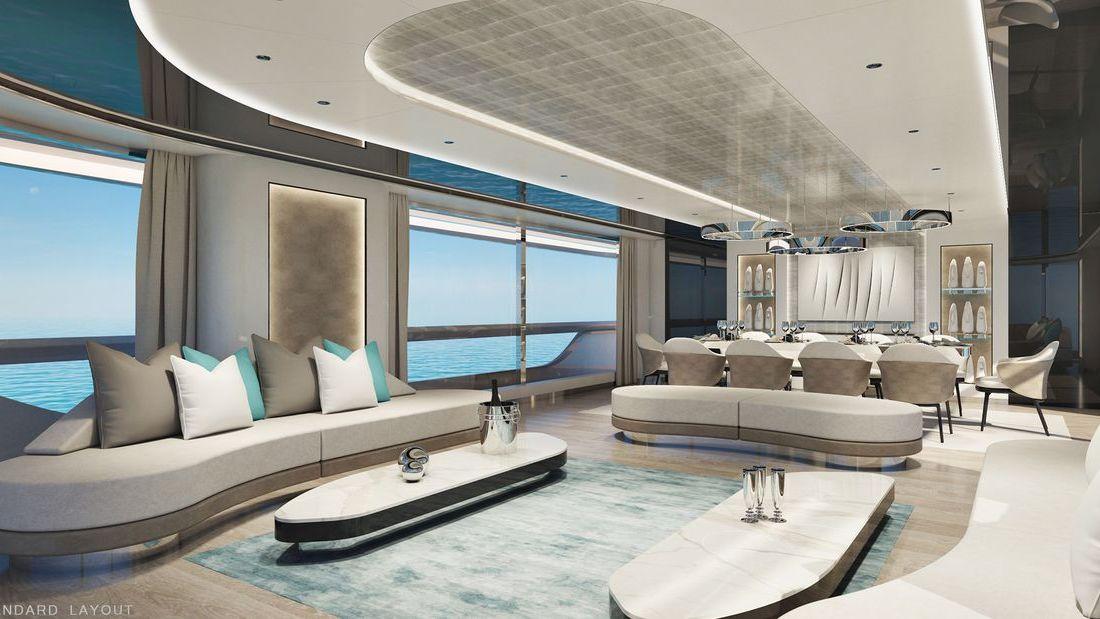 Motor Yacht Interior Rendering Atlante Yachts Mistral 41