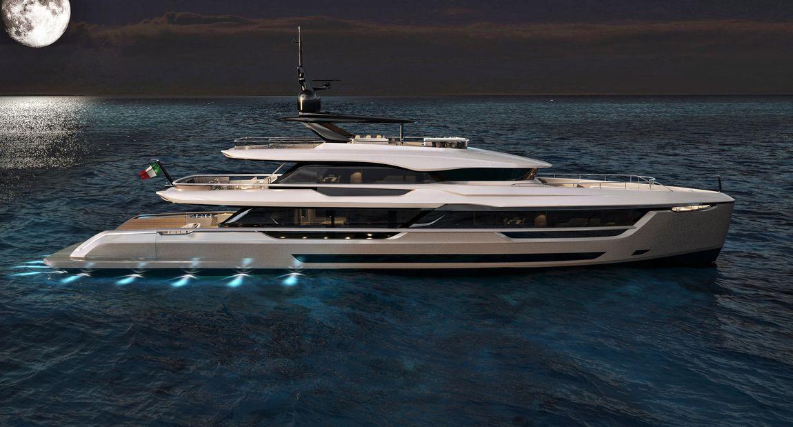 Motor Yacht Rendering Atlante Yachts Mistral 41